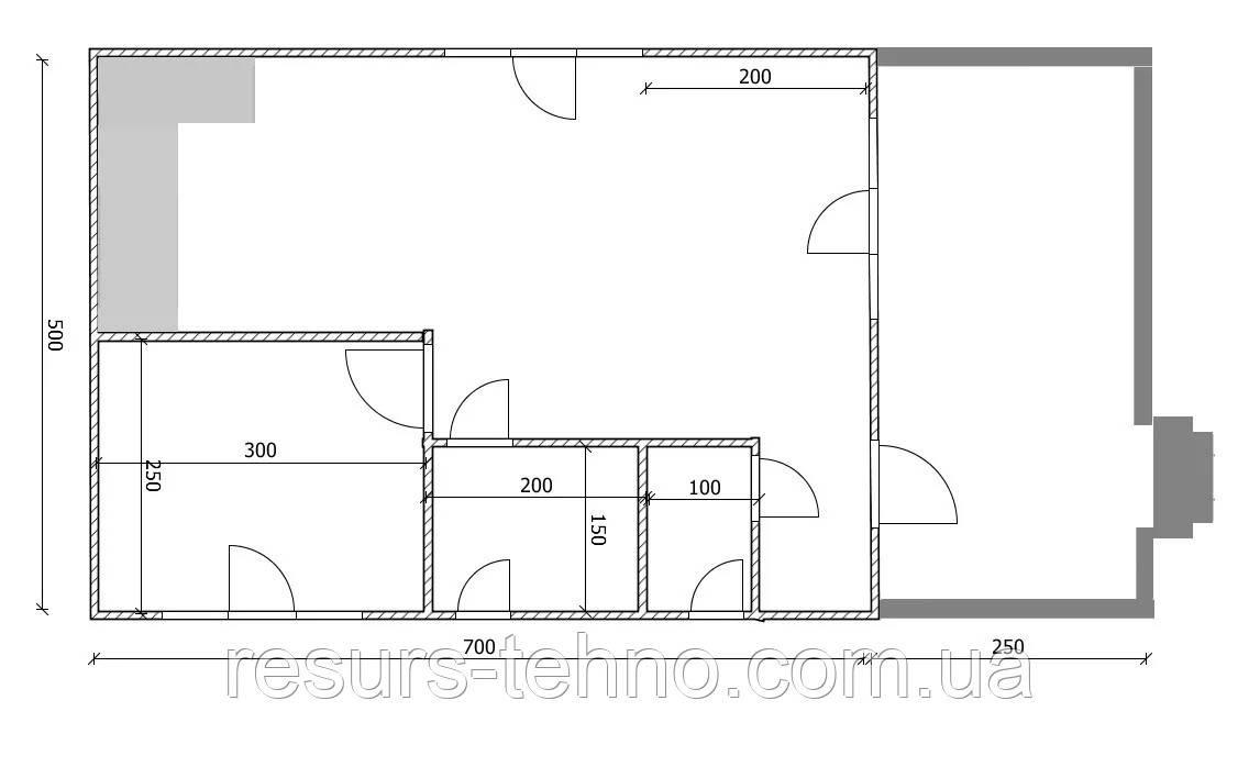 Будинок з терасою та мансардою 5м х 7м (1,5 поверхи)