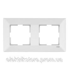 Рамка 2-а горизонтальна біла VIKO Meridian