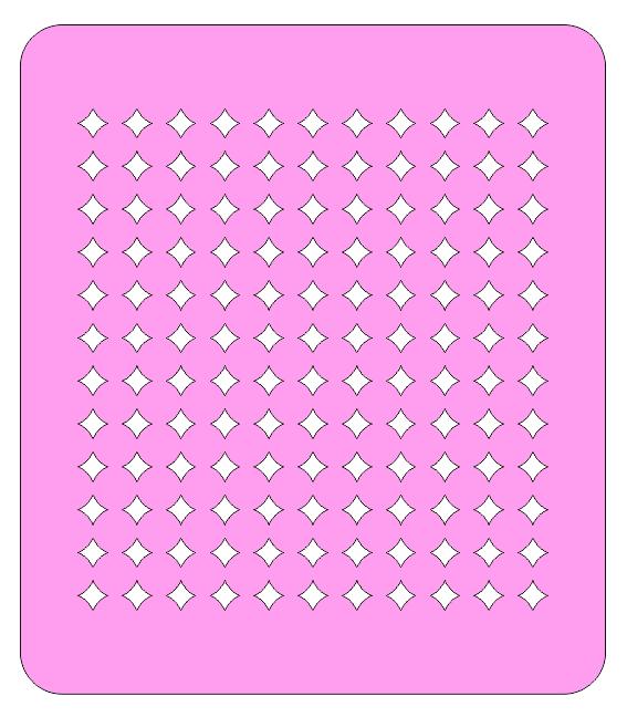 Трафарет для пряников Узор №2
