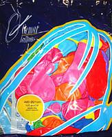 """Ассорти пастель 8"""" (21см). Шары воздушные разноцветные, латекс Gemar"""
