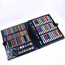 Набор для творчества. Большой набор для рисования на 150 предметов Чемодан СИНИЙ, фото 3