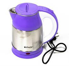 Электрочайник металлический Livstar, надежный электрический чайник из нержавейки, техника для кухни 1,8 L