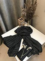 Шарф теплый зимний шерстяной 200х66 см, Серый