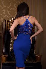 Платье на брительках гипюр , фото 2