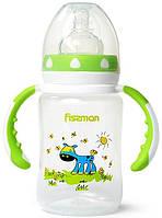 """Бутылочка детская для смеси для кормления новорожденных детей Fissman Babies """"Ослик на лужайке"""" 240мл с"""