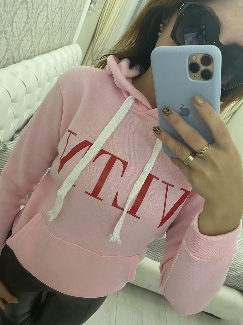 Женская кофта с капюшоном VLTN