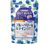 Комплексна вітамінна добавка Orihiro Чорниця та Лютеїн, 120 таблеток
