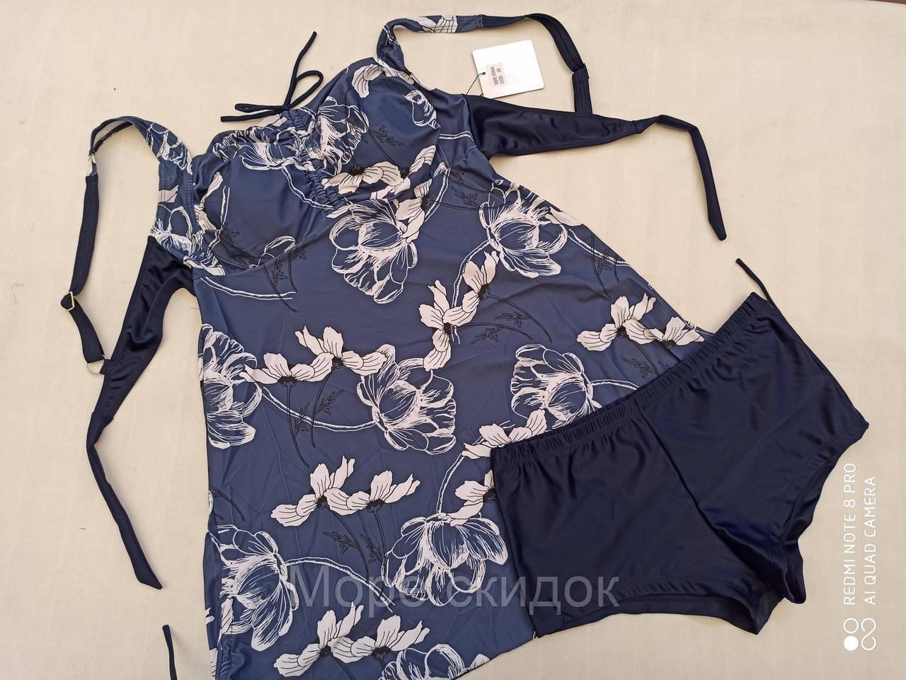 1Купальник- платье Танкини CARMELO 0946 Блеск белый(в наличии  52  56 58 размеры)