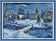 Сказочная зима Набор для вышивки крестом с печатью на ткани 14ст
