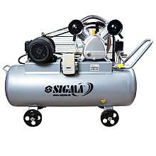 Компрессор ременной двухцилиндровый 380В 4кВт 700л/мин 10бар 150л SIGMA (7044631)