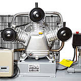 Компресор ремінною трициліндровий 380В 3кВт 610л/хв 10бар 135л SIGMA (7044711), фото 3