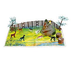 Набор фигурок Домашние животные 12 шт. Оригинал Wing Crown D33702