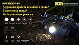 Налобный фонарь Nitecore HC65 (1000LM, USB, 3 спектра света, IPX8) + Оригинальный аккумулятор 18650*3400mAh, фото 2