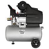 Компресор одноциліндровий 1.8 кВт 230л/хв 8бар 24л (2 крана) SIGMA (7043131), фото 3