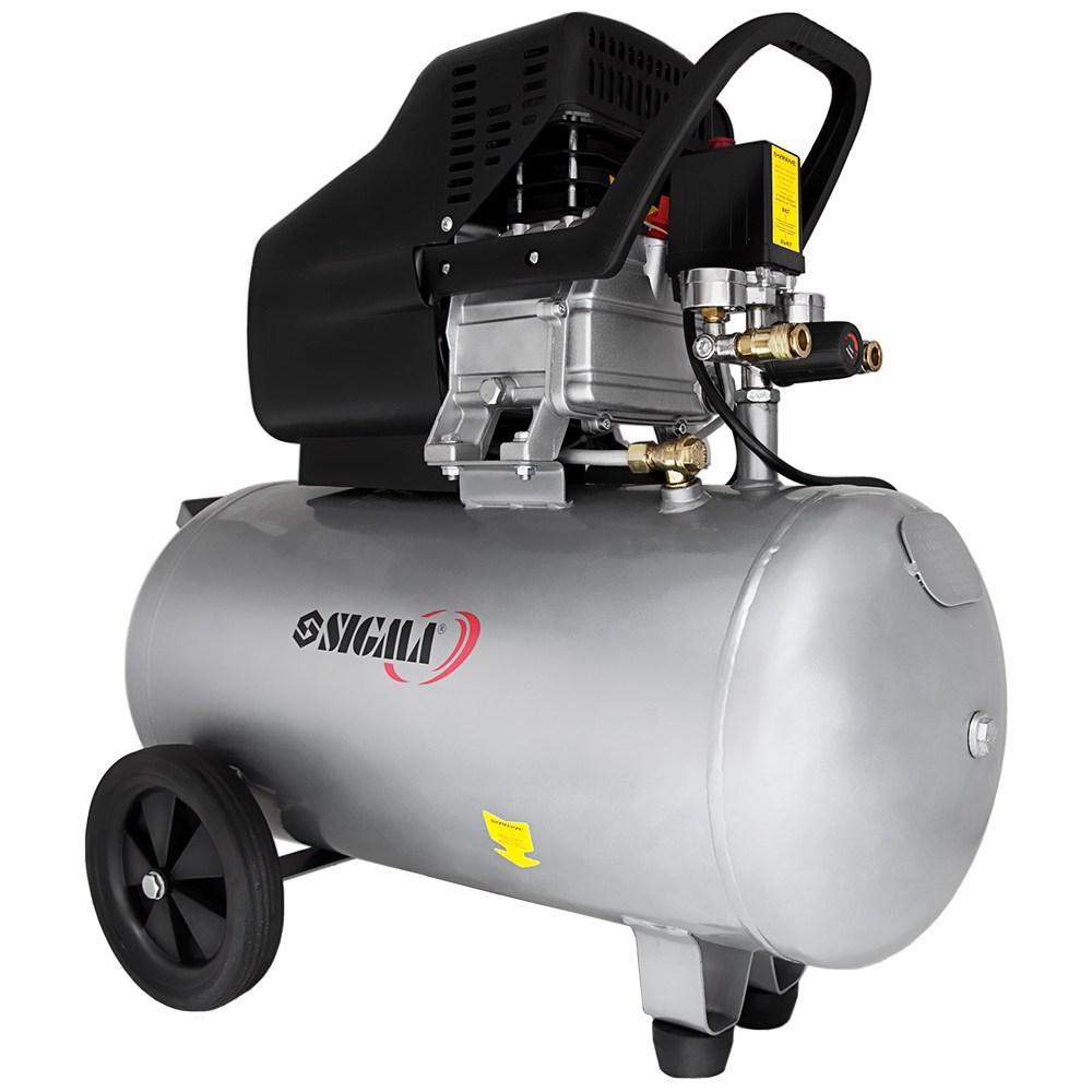 Компресор одноциліндровий 1.8 кВт 230л/хв 8бар 50л (2 крана) SIGMA (7043141)