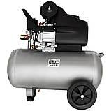 Компресор одноциліндровий 1.8 кВт 230л/хв 8бар 50л (2 крана) SIGMA (7043141), фото 3