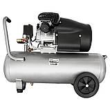 Компресор двоциліндровий 2.5 кВт 455л/хв 10бар 50л (2 крана) SIGMA (7043721), фото 3