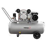 Компресор двоциліндровий ремінною 2.5 кВт 396л/хв 10бар 100л (2 крана) SIGMA (7044151), фото 2
