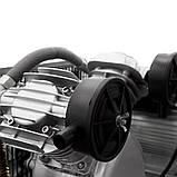 Компресор двоциліндровий ремінною 2.5 кВт 396л/хв 10бар 100л (2 крана) SIGMA (7044151), фото 7
