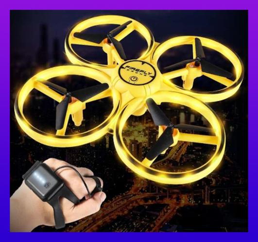 Квадрокоптер Управление с руки Tracker 001 на Браслете Детский дрон