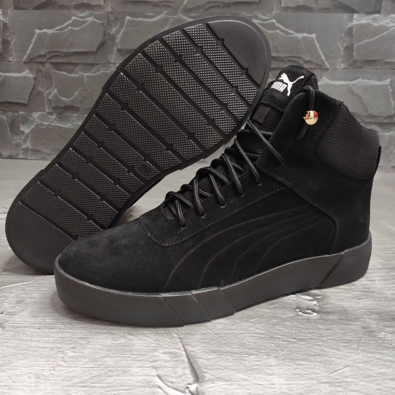 Мужские зимние ботинки Puma OS169 черные