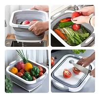 Доска-миска разделочная складная универсальная KitchenCraft, Складная разделочная доска для мытья и резки