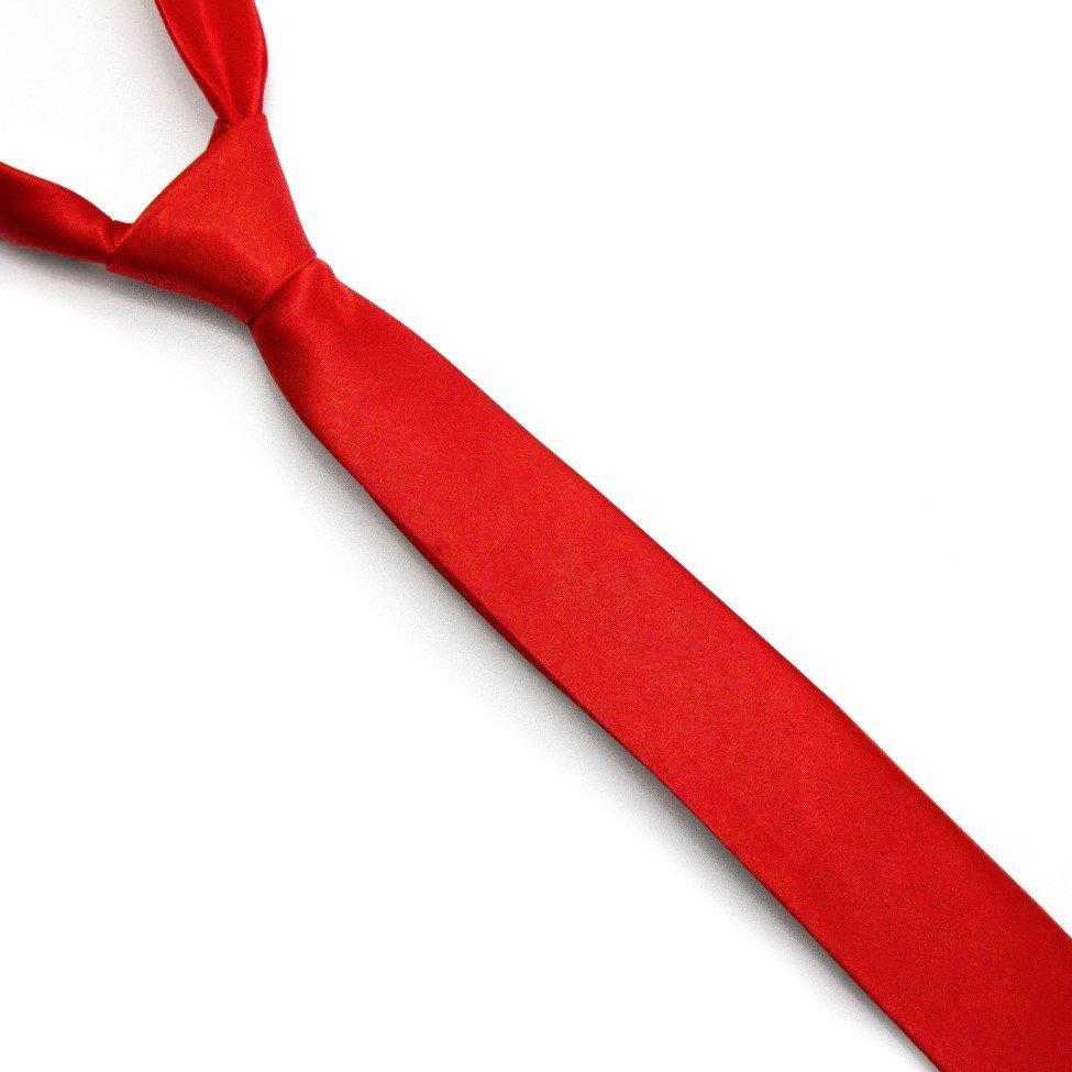 Краватка Gofin вузька червона однотонна FGN-08