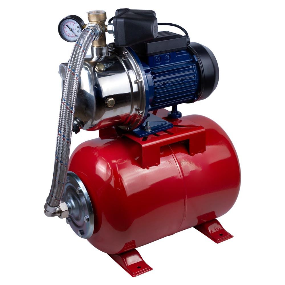 Станція 1.1 кВт Hmax 48м Qmax 60л/мін (самовсмоктуючий насос нерж) 24л Україна WETRON (775054/24)