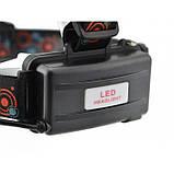 Налобный фонарь BL POLICE С862 3 диода T6 фонарик 1480 Lumen, фото 5