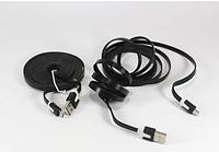 Шнур USB-MICRO USB 1m flat V8/0044