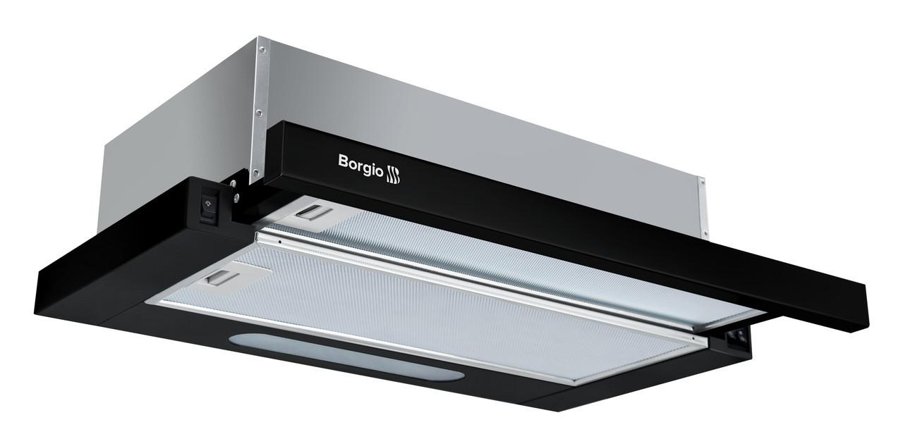 Вытяжка кухонная Borgio Slim 60 black