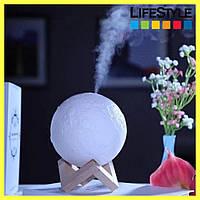 USB увлажнитель воздуха Луна / Светильник-диффузор / Ночник