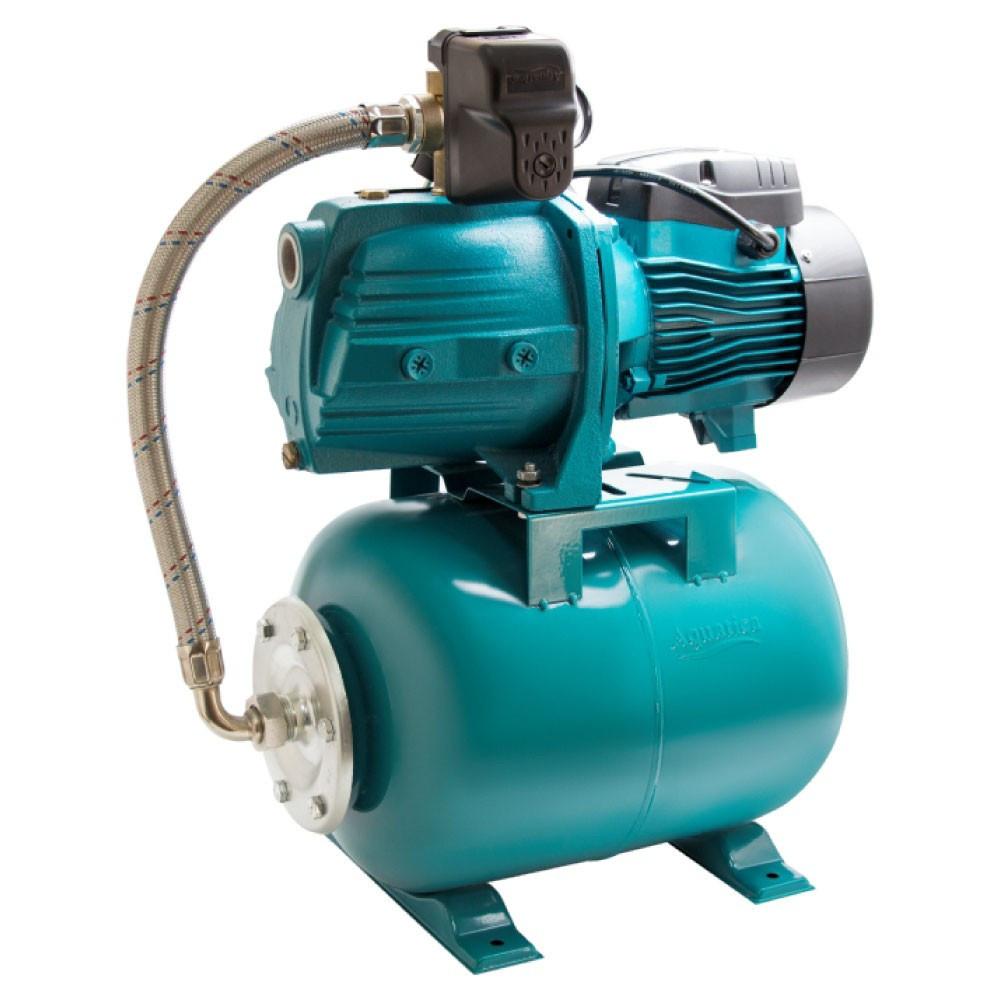 Станція 0.9 кВт Hmax 48м Qmax 85л/хв (самовсмоктуючий насос) 24л AquaticaLEO (775386/24)