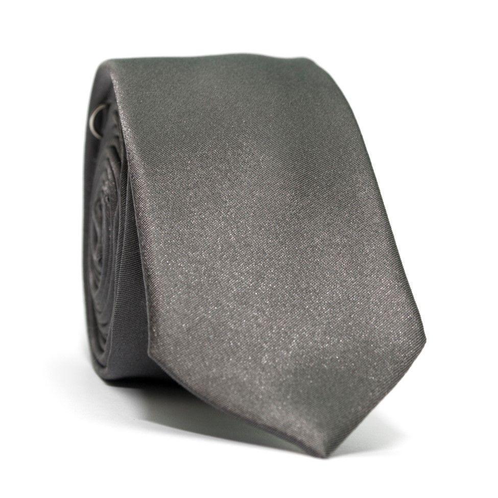 Краватка чоловіча вузька Сіра GIN-2427