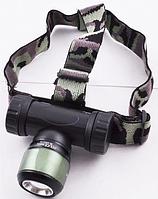 Современный сверхнасыщенный налобный фонарик Bailong BL-6953 PURPLE с ударопрочным корпусом