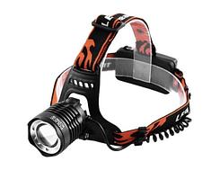 Налобный фонарь Cree POLICE BL 2189-T6 фонарик 1050 Lumen (ЗУ 220В 12В) Черный