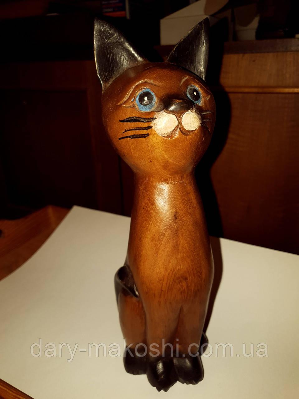 Статуэтка Кот деревянный