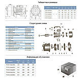 Насос центробежный самовсасывающий 0.45кВт Hmax 38м Qmax 40л/мин (нерж) LEO 3.0 (775352), фото 2