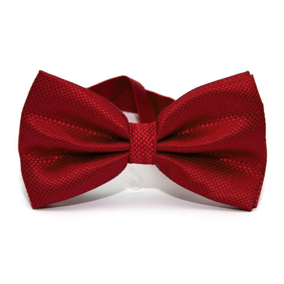 Краватка метелик Червона однотонна в ромбіки GBN-1032