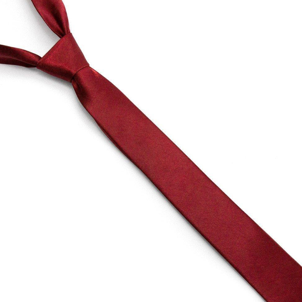 Краватка Gofin вузька Бордова однотонна FGN-26