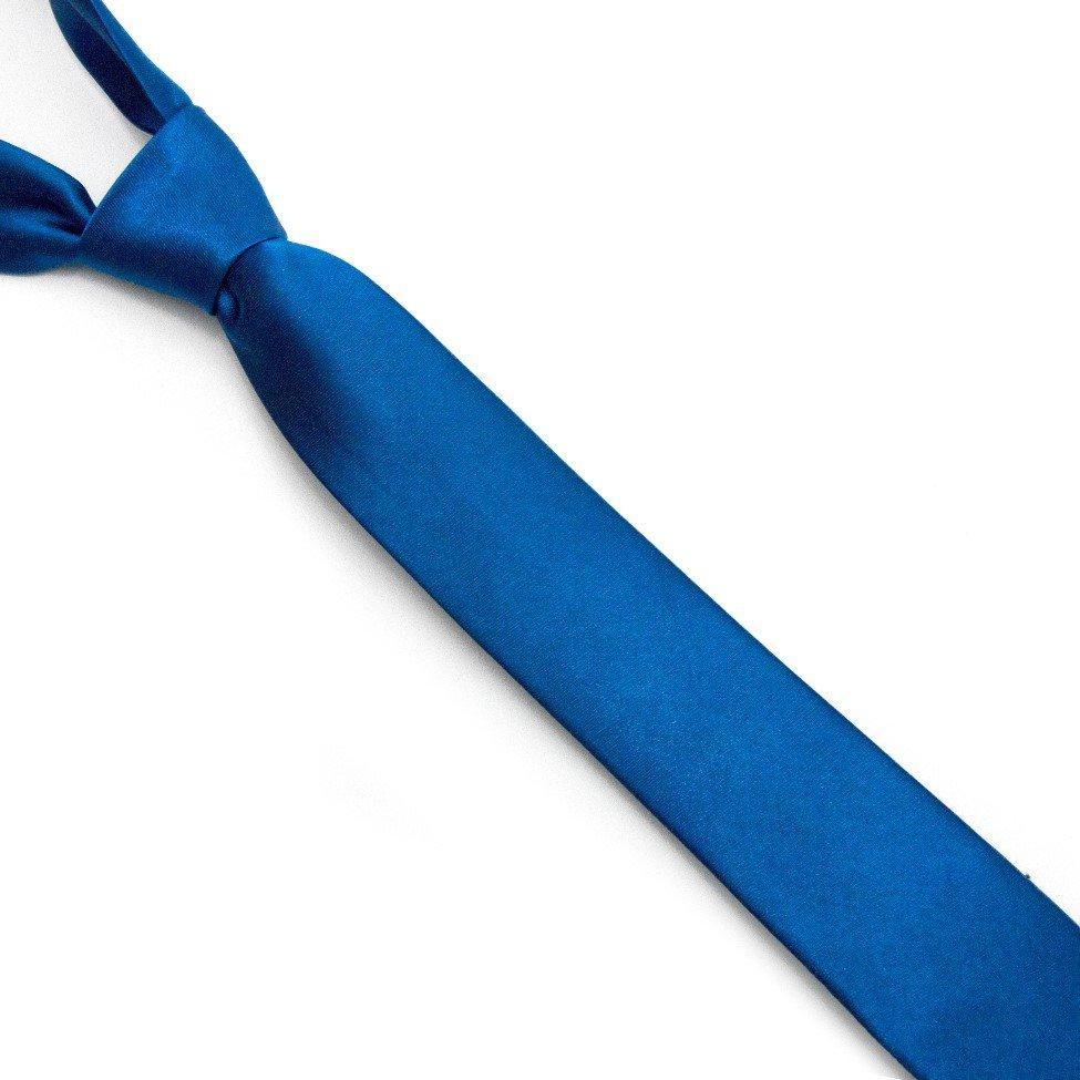 Краватка Gofin вузька синя-електрик однотонна FGN-30