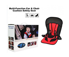 Детское автокресло Multi Function Car Cushion № K12-106 красное обеспечивает полную безопасность ребёнка