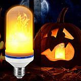 Лампа LED Flame Bulb с эффектом пламени огня E27, фото 5