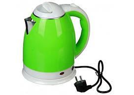 Чайник электрический Domotec MS 5025 зеленый 220V/1500W из нержавеющей стали