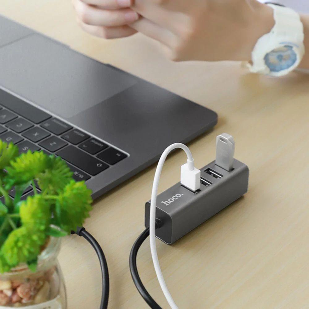 Високошвидкісний USB Хаб Hoco HB1 на 4 порти концентратора, Hub