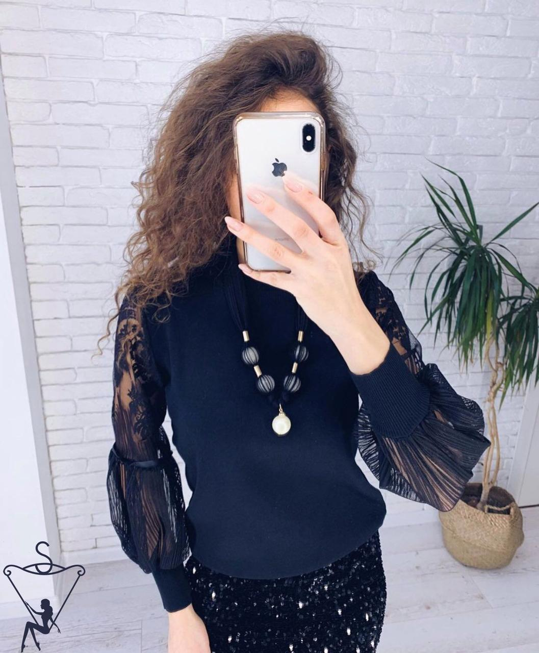 Ошатна чорна блузка