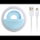 Вспышка-подсветка для телефона селфи-кольцо Selfie Ring Ligh Голубой, фото 4