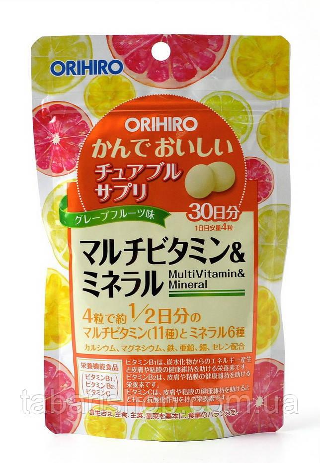 Комплексна добавка Orihiro Мультивітаміни, 120 таблеток