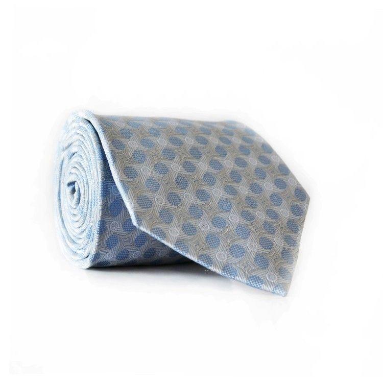 Галстук чоловічий Блакитний Сірий GIN-2031