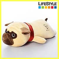 Подушка игрушка собачка мопс, фото 1
